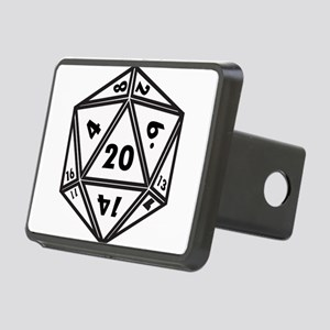 D20 White Hitch Cover