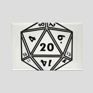 D20 White Magnets