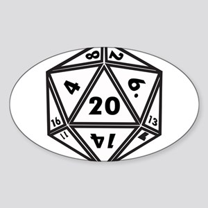 D20 White Sticker