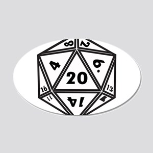 D20 White Wall Decal