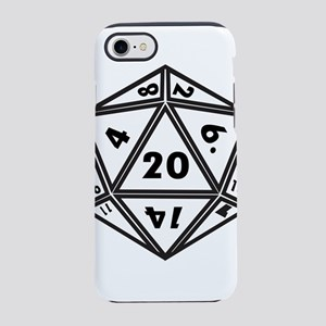 D20 White iPhone 8/7 Tough Case