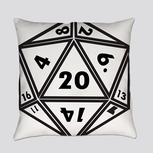 D20 White Everyday Pillow