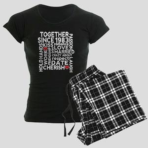 1983 anniversary couples Women's Dark Pajamas