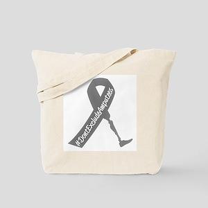Amputee Awareness Ribbon Tote Bag