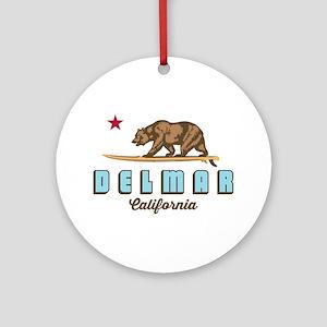 Del Mar California. Round Ornament
