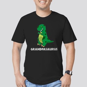 Grandpasaurus Men's Fitted T-Shirt (dark)