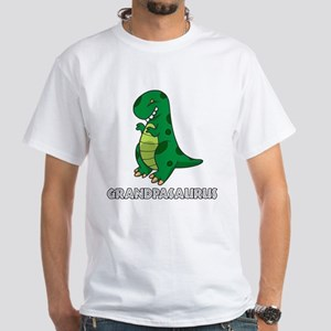 Grandpasaurus White T-Shirt