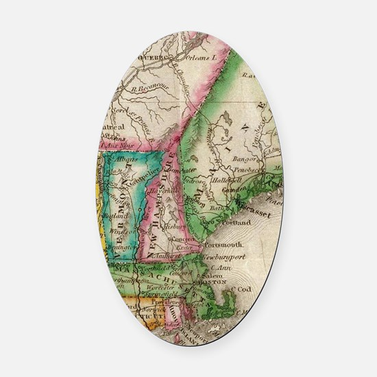 Cool England Oval Car Magnet