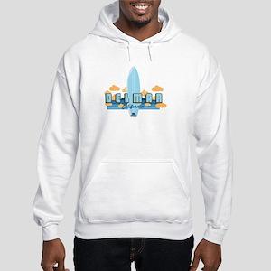 Del Mar California. Hooded Sweatshirt