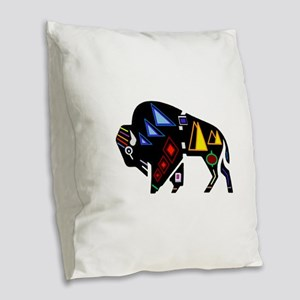 BISON Burlap Throw Pillow