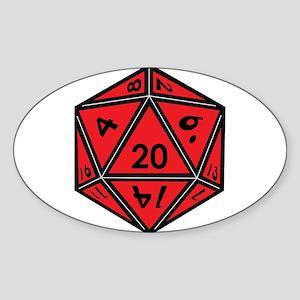 D20 Red Sticker