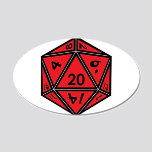 D20 Red Wall Decal