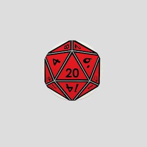 D20 Red Mini Button