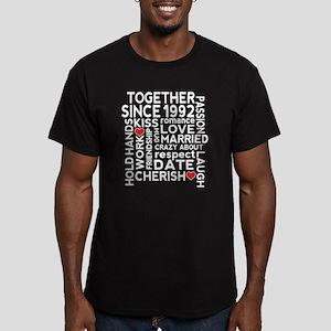 1992 anniversary coupl Men's Fitted T-Shirt (dark)