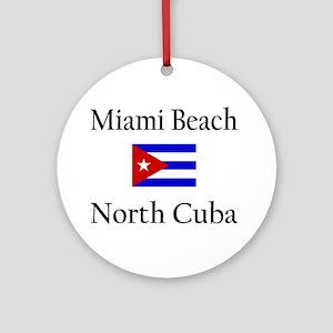 Miami Beach, North Cuba (Flag Keepsake (Round)