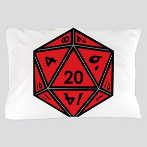 D20 Red Pillow Case