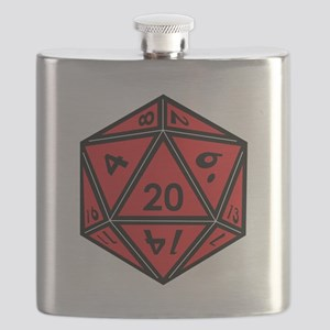 D20 Red Flask