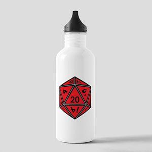 D20 Red Water Bottle