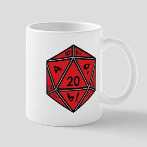 D20 Red Mugs