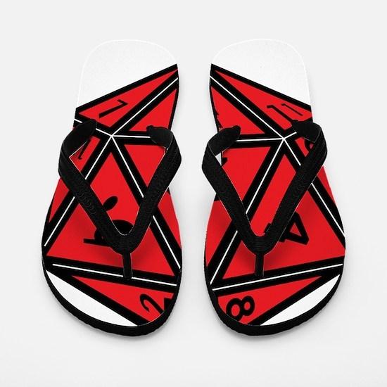D20 Red Flip Flops