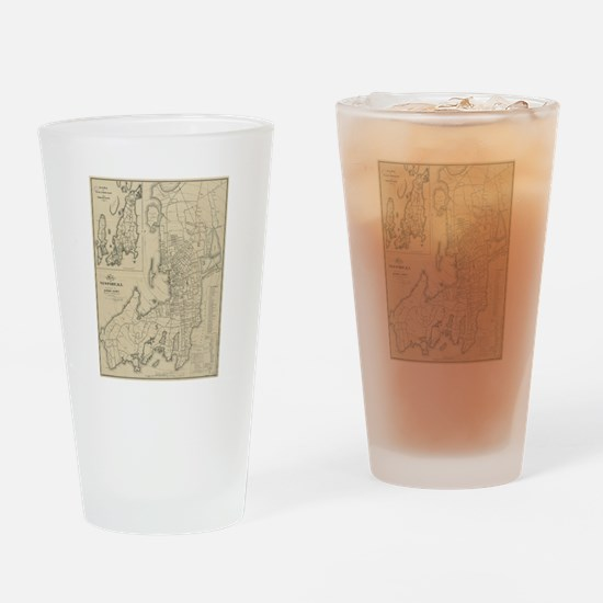 Funny Rhode island Drinking Glass