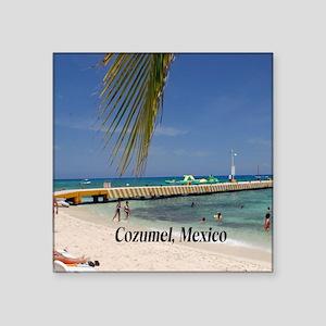 """Cozumel Mexico Square Sticker 3"""" x 3"""""""