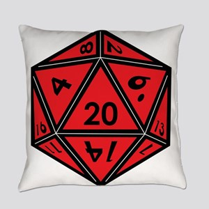 D20 Red Everyday Pillow
