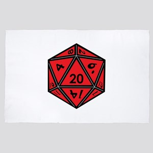 D20 Red 4' x 6' Rug