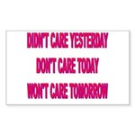 Don't Care! Rectangle Sticker