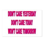 Don't Care! Postcards (Package of 8)