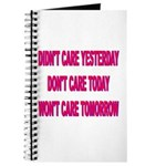 Don't Care! Journal