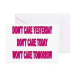 Don't Care! Greeting Cards (Pk of 20)