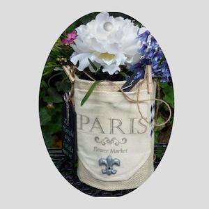 Paris Flower Market Oval Ornament