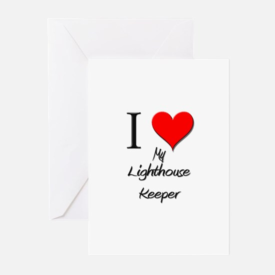 I Love My Lighthouse Keeper Greeting Cards (Pk of