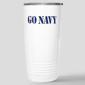 Go Navy Stainless Steel Travel Mug