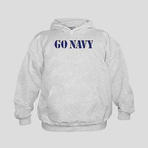 Go Navy Kids Hoodie