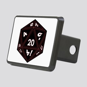 D20 Black with Red Trim Hitch Cover