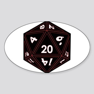 D20 Black with Red Trim Sticker