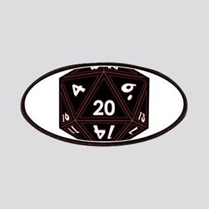 D20 Black with Red Trim Patch