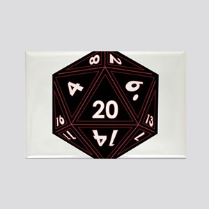 D20 Black with Red Trim Magnets