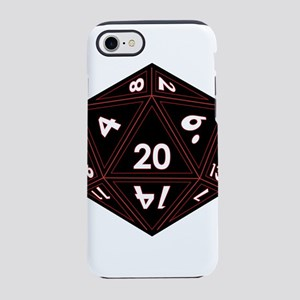 D20 Black with Red Trim iPhone 8/7 Tough Case