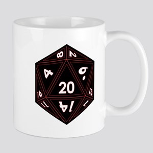 D20 Black with Red Trim Mugs