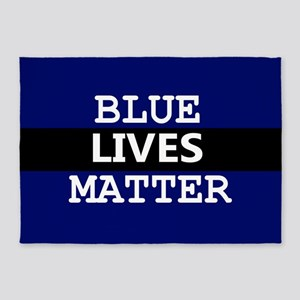 BLUE LIVES MATTER 5'x7'Area Rug