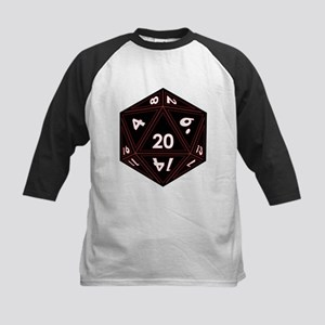 D20 Black with Red Trim Baseball Jersey