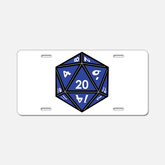 Funny D20 dice Aluminum License Plate