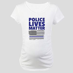 Police Lives Matter Maternity T-Shirt
