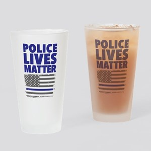 Police Lives Matter Drinking Glass