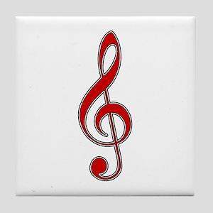 Old-Timey Music Tile Coaster