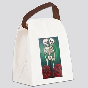 Twin Skeletons Canvas Lunch Bag