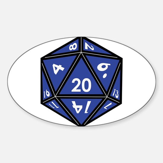 Unique Role playing game Sticker (Oval)